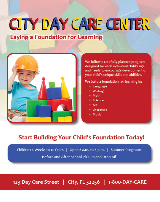 Daycare Flyer Babysitting  Daycare Flyer  Ad Template  Word